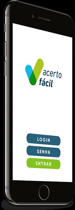 Tela Login Acerto Fácil Aplicativo Mobile